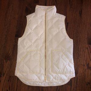 JCREW off white puffer vest